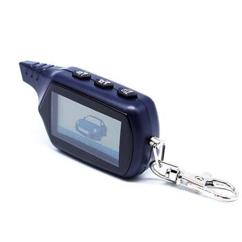 Russian Version Keychain B9 Starline LCD Remote Controller For Two Way Car Alarm Starline B9 Twage Keychain alarm auto