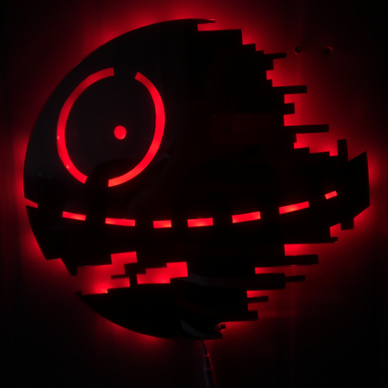 Star Wars Death Star 3D Color Changing Led Wall Lamp Night Light Creative Novelty Toy RGB Colorfull Action Figure стоимость