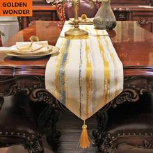 Modern Simple Table Runner Concise Tablecloth Stripe Colorful Runners Good Quality New Design Polyster