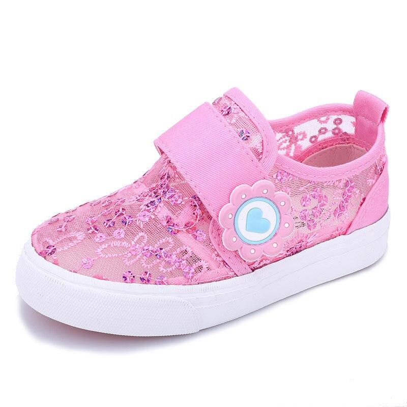 9900458bca5 2016 New Children Girls Kids Shoes Hollow Out Lace Mesh Girls .