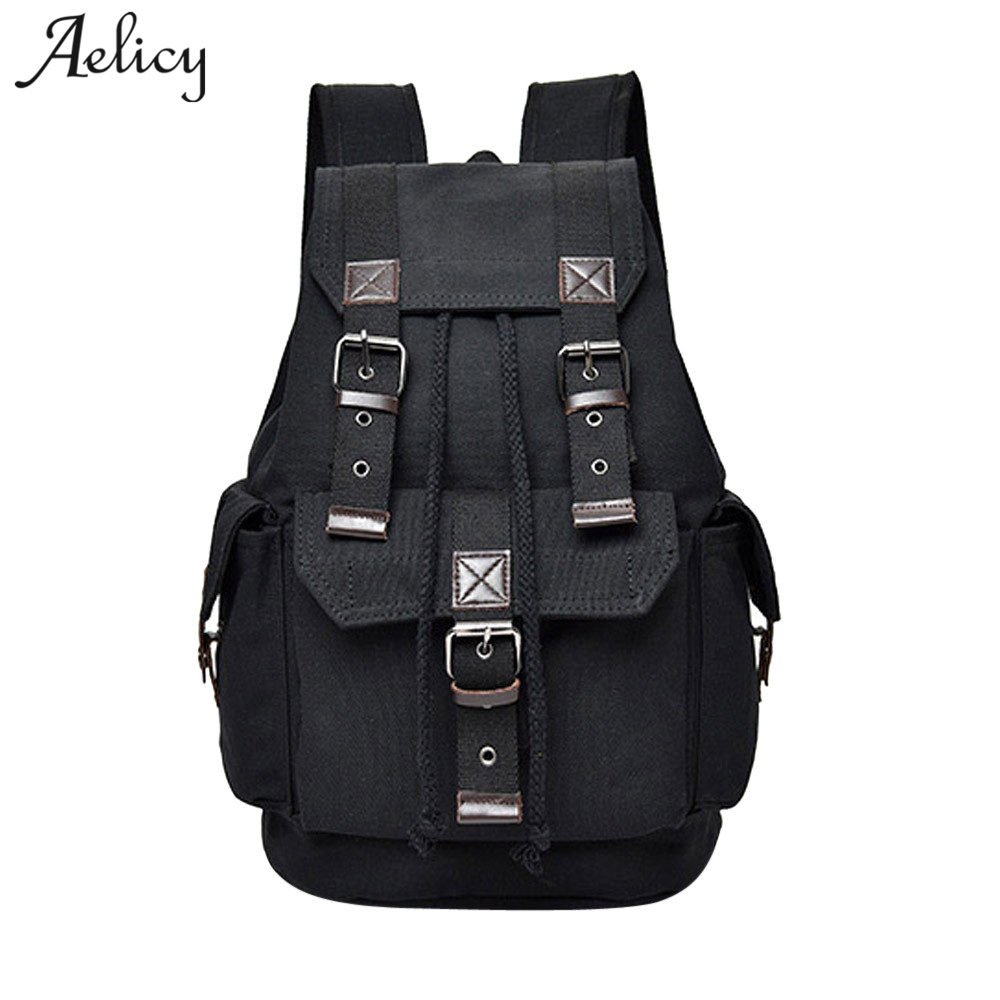 Aelicy Men Women Travel Canvas Backpack Rucksack 2019 New Design Men Backpack For 15.6 inches Laptop Backpack Mochila MasculinaAelicy Men Women Travel Canvas Backpack Rucksack 2019 New Design Men Backpack For 15.6 inches Laptop Backpack Mochila Masculina