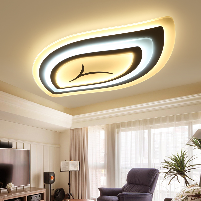 Ceiling Lights Lights & Lighting Have An Inquiring Mind Minimalist Leaf Modern Led Ceiling Lights For Living Room Bedroom Remote Control Acrylic+hardware Led Ceiling Lamp Good Companions For Children As Well As Adults