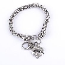 Hot Selling Movie Anime NANA letter bracelet vintage rhinestone bracelet love heart cartoon bracelet jewelry gift wholesale