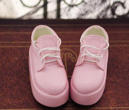 New Lovely Girl pink/white Thick bottom Shoes 1/3 DD SD BJD Doll Shoes handsome grey woolen coat belt for bjd 1 3 sd10 sd13 sd17 uncle ssdf sd luts dod dz as doll clothes cmb107