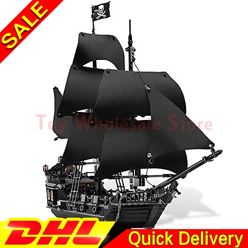 LEPIN 16006 Pirates of the Caribbean The Black Pearl Building Model Blocks Set lepins Toys Clone 4184 lepin 16006 16016 pirates of the caribbean 16009 queen anne s revenge legoinglys 70618 black pearl model building kits blocks