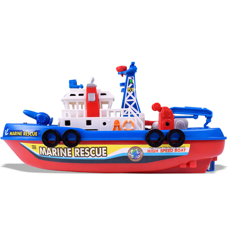 High Speed Children Marine Rescue Toy Boat Fire Boat Electric Boat ...