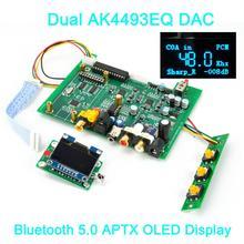 HIFI двойной AK4493EQ DSD ЦАП Bluetooth 5,0 беспроводной плеер AK4493 ЦАП XMOS Amanero USB LME49720 olamp OLED дисплей