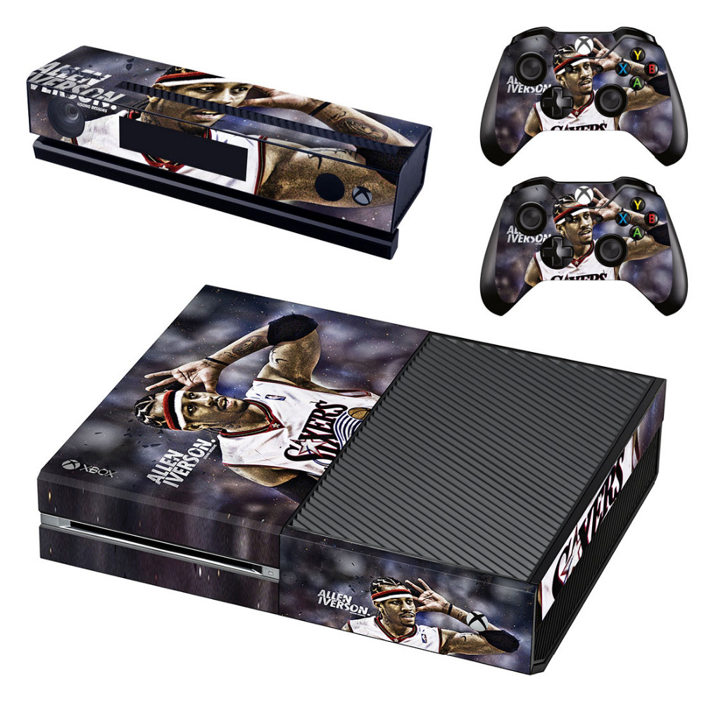 The Answer Allen Iverson Decal Skin Sticker for Microsoft Xbox One Kinect and Console and 2 Controllers Vinyl Game Stickers