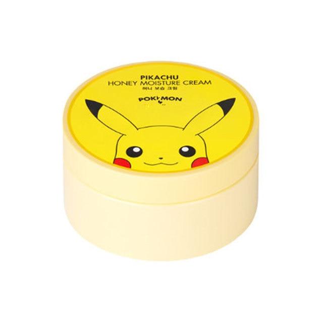 Original Pokemon Pikachu Honey Moisture Cream 300ml Skin Care Korean Face Cream Whitening Moisturizing Facial Creams 1pcs
