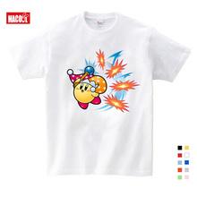 Funky T-Shirt Kirby Playing Game Boy Organnic Tees Cotton Children Short Sleeve Shirt Hot Selling Funny T Shirts for Sale YUDIE