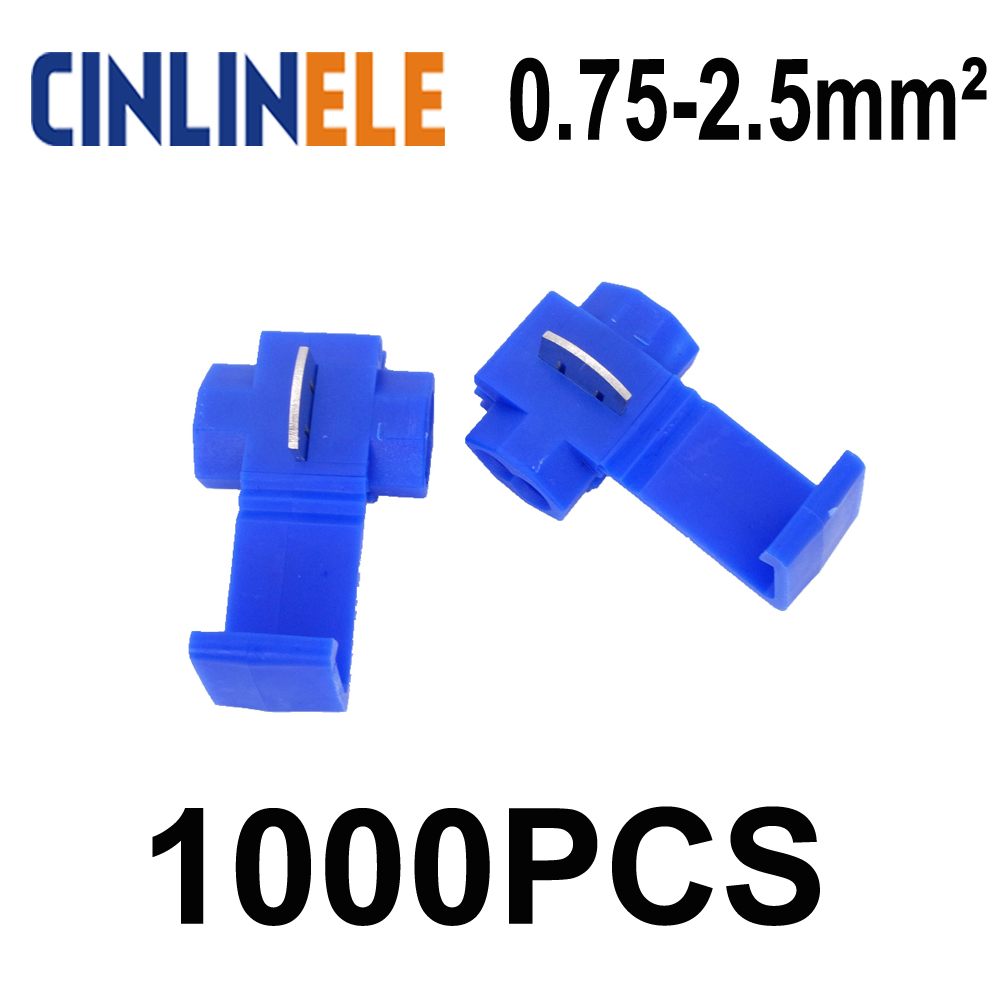 Scotch Lock Quick Splice Connectors Terminals Blue 50pcs Or 100pcs Wiring Connector Imc 1000pcs 802p3 Wire 18 14awg Hard Soft 075