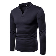 High collar Mens T-shirt winter large size Plus velvet warm henry Brand casual stretch cotton men