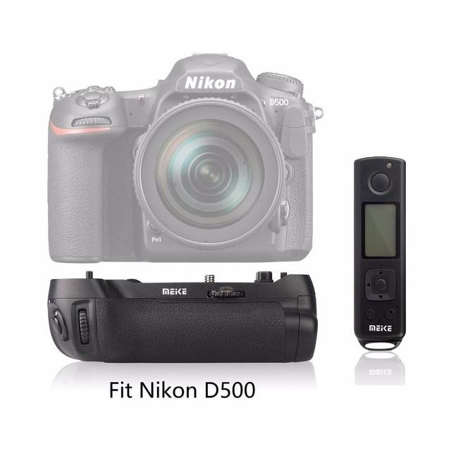 Meike MK-D500 Pro Ingebouwde 2.4 GHZ FSK Met Afstandsbediening Schieten voor Nikon D500 Camera Vervanging van MB-D17