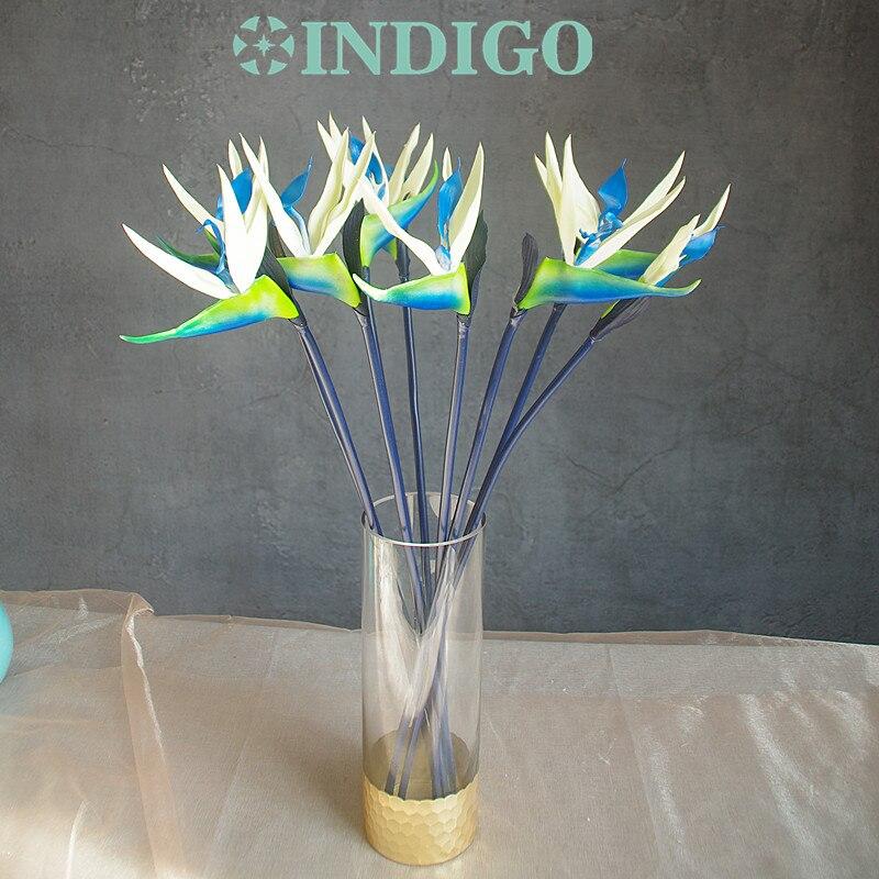 Neue Ankunft 3d 90 Cm Künstliche Blume Phalaenopsis Latex Beschichtung Seide Blume Real Touch Orchidee Orchidee Multicolor Hochzeit Festliche & Party Supplies Haus & Garten