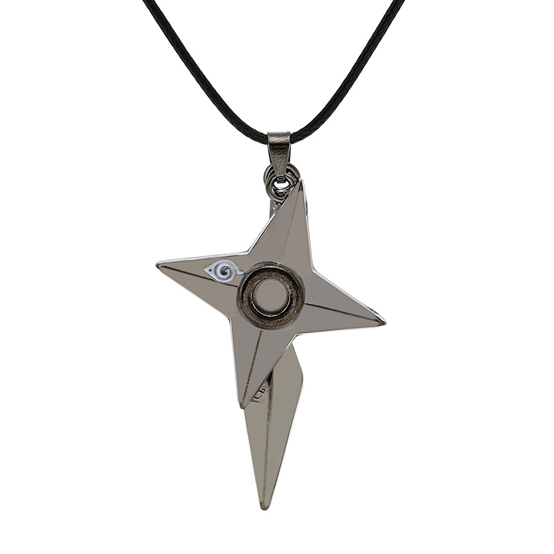 Novelty & Special Use Anime Jewelry Naruto Necklace Kunai Shuriken Dart Weapon Konoha Logo Uzumaki Naruto Pendant Leather Rope Ninja Cosplay Nourishing The Kidneys Relieving Rheumatism