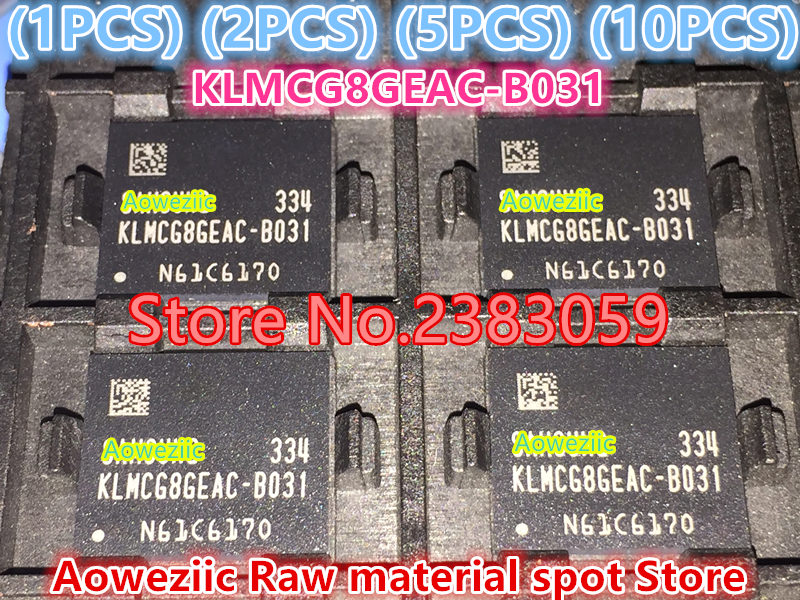 (1PCS) (2PCS) (5PCS) (10PCS) 100% Brand new imported original KLMCG8GEAC-B031 BGA 153 EMMC series 64GB font 1pcs 2pcs 5pcs 10pcs 100% new original klmdgageac b001 bga 128gb emmc tablet or mobile storage chip klmdgageac b001