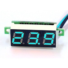 0.28 inch DC 0-100V Red LED Display Digital Car Voltmeter Voltage Volt Panel Meter Battery Monitor Digital Voltmeter Ammeter new mini 0 36 inch dc 0 100v 3 bits digital red led display panel voltage meter voltmeter tester 39%off