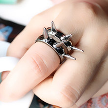 Fashion Women Jewelry Retro Punk Style Rvet Ring Three Colors To Choose Wholesale B0D4 5D(China)