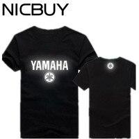 Summer Wholesale Men YAMAHA Luminous Reflective Motorsport Team Logo T Shirt Cotton Short Sleeve Suzuki Honda