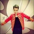 ГОРЯЧАЯ 2016 Новый плюс размер мужская одежда певица EXO этап костюм Двубортный куртка Сеть бар ночном клубе певица пальто DS костюмы
