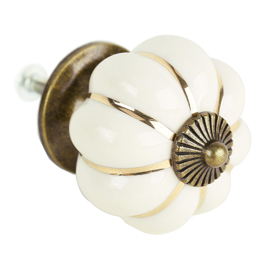 8 Design Pumpkin Porcelain Knobs Furniture Handles Furniture knob Furniture knob luxury white диван luxury elegance furniture rlg37