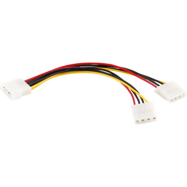 Computer Cable 4/15 Pin IDE Power Splitter 1 Male To 2 Female IDE/SATA  Power Cable Y Splitter Hard Drive Power Supply Cable