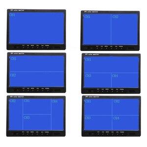 "Image 3 - Podofo 9 ""TFT LCD פיצול מסך Quad צג טלוויזיה במעגל סגור אבטחת מעקב משענת ראש צג אחורי 4 RCA מחברים וידאו תצוגה"