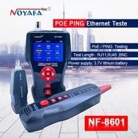 Горячие NOYAFA NF 8601Multi functional сетевой кабель тестер ЖК дисплей кабель Длина метр останова RJ45 тестер телефонная линия проверки ЕС
