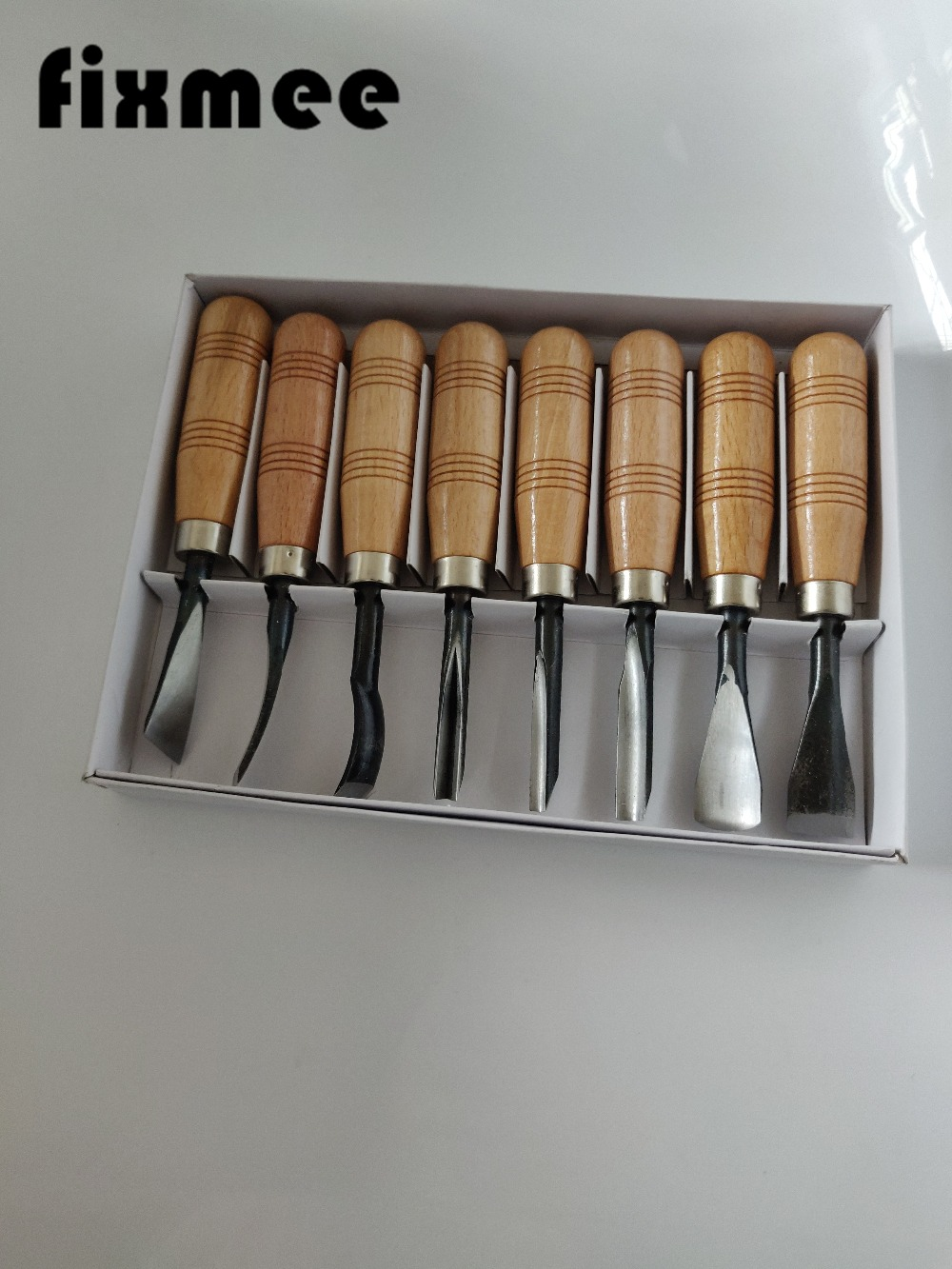 Dry Set Tools Carving Detail Chip Set Wood Tool  Fixmee Chisel Knives Hand 8Pcs