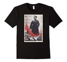 2019 Fashion Hot Joseph Stalin Vintage USSR Retro Soviet Poster Tee T shirt(China)