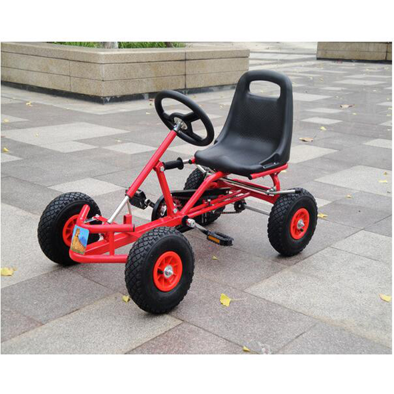 Kids Pedal Go Kart Ride On Rubber Wheels Sports Racing Toy Trike ...