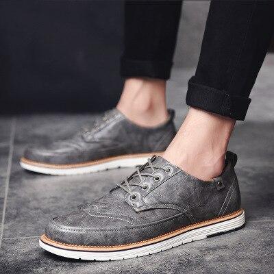 Style Et En blanc Nouveau Hommes Sauvage Noir Gros Mode 2018 Automne Brock gris Casual Printemps Chaussures brown De AvdT88q