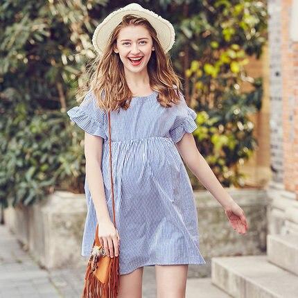 все цены на 2018 Women Long Dresses Maternity Nursing Dress for Pregnant Women Pregnancy Women's dress Clothing Mother Home Clothes L/XL/XXL онлайн