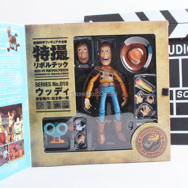 Cartoon Cartoon Movie Woody Series NO. 010 Sci-Fi Revoltech Special PVC Action Figure Collectible Toy image