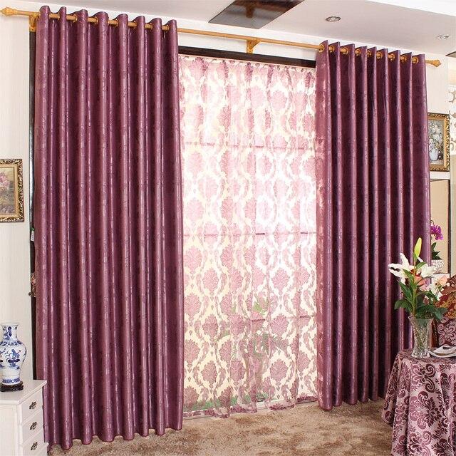 calidad total dodechedron viviendo cortina sala del mohini de color morado oscuro - Cortinas Moradas