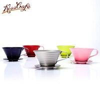 V60 Gotejador Xícara De Café de Aço inoxidável Café do Gotejamento de Café Brewer 4 Cores Acessórios Filtros de Café Espresso|Filtros de café| |  -