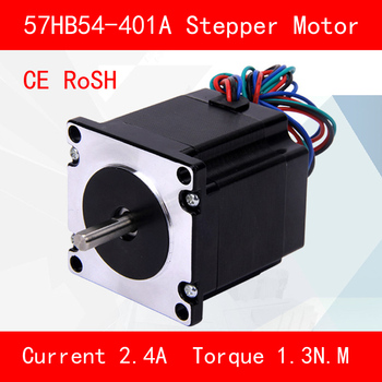 CE ROSH 57HB54-401A Stepper motor torque 1.3N.M Phase current 2.4A for automation equipment 3d printer cnc