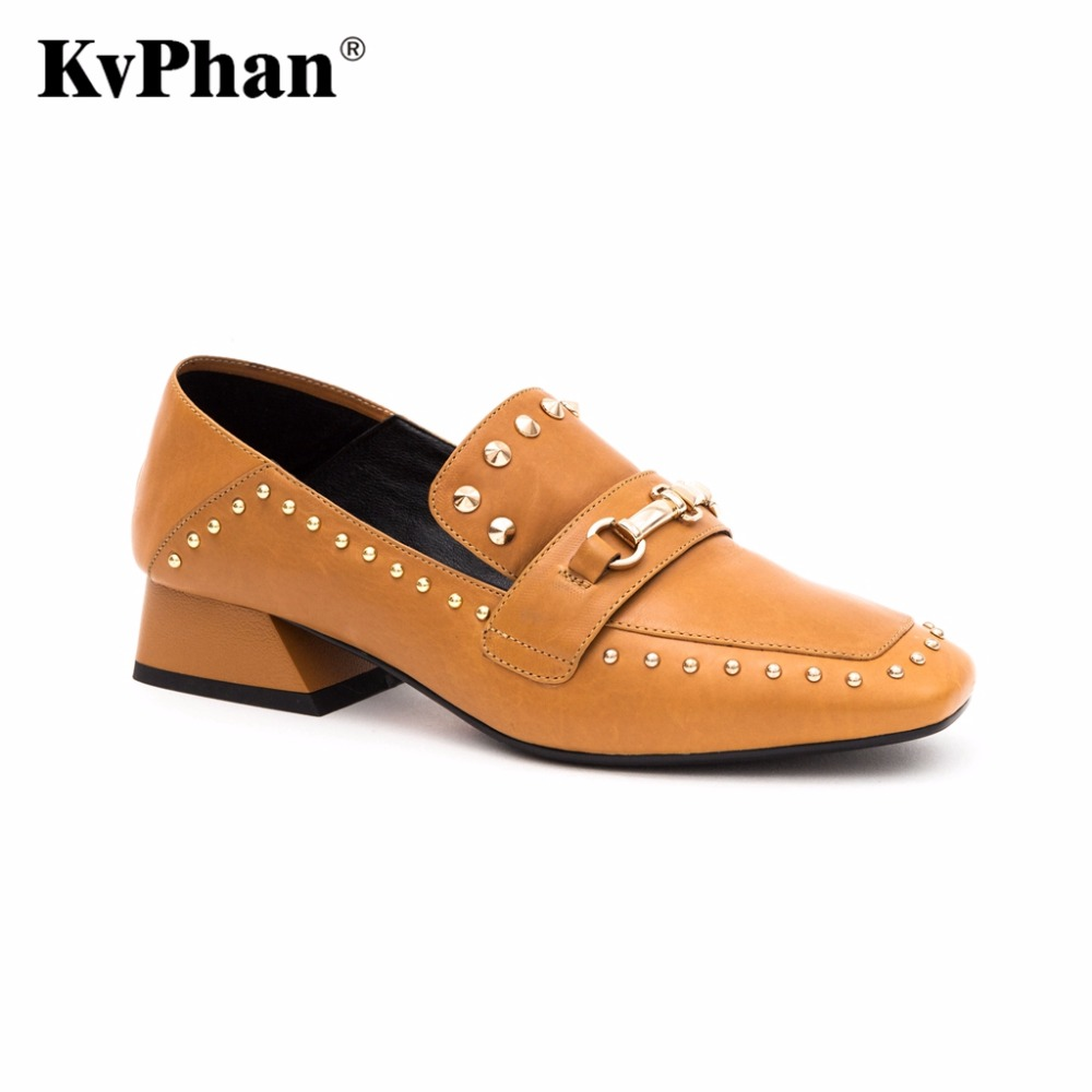 KvPhan 2017 Genuine Leather Woman Pumps Luxury Brand Fashion Slip-on High heels Shoes Woman Black Bordo Handmade for Women Boots nayiduyun women genuine leather wedge high heel pumps platform creepers round toe slip on casual shoes boots wedge sneakers