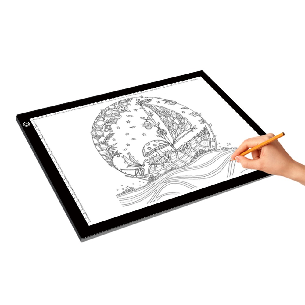 A3 Portable LED Drawing Board Touch Dimmable Tracing Table Light Pad Box with Clip for 2D Animation Sketching Gadgets