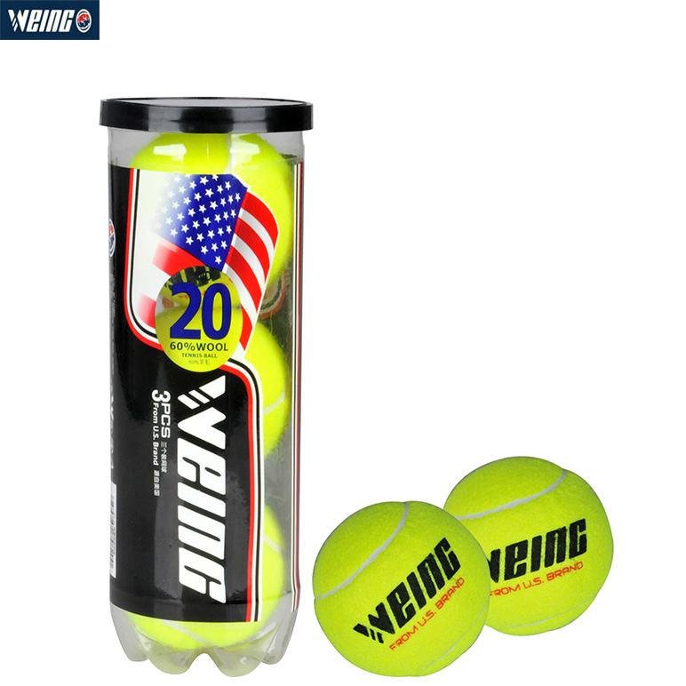WEING WD-20 Tennis Ball Wool Durable For Sports Indoor & Outdoor For Amateur  Competition With Boxing