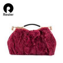 Realer women handbag genuine leather top-handle messenger shoulder bag