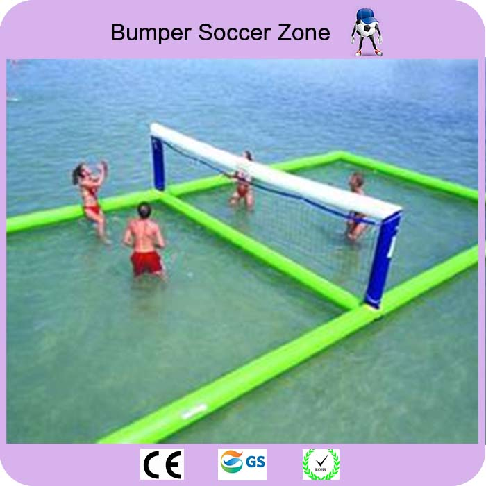 Free Shipping 12*6 Inflatable Water Sports Games Inflatable Volleyball Field Inflatable Beach Volleyball Court Free a Pump