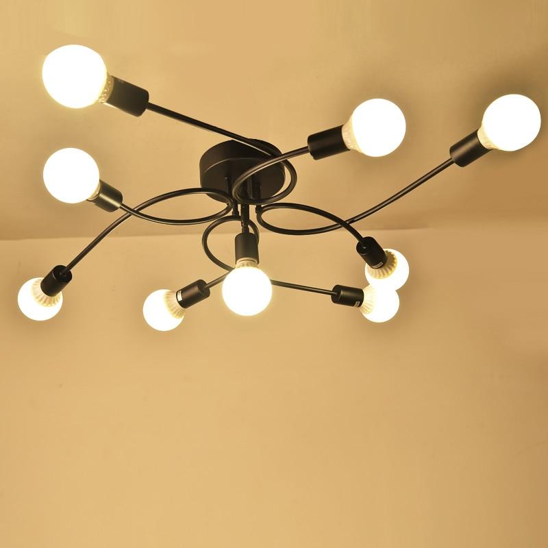 купить Vintage Ceiling Lights For Living Room retro modern Ceiling lamps Industrial light lampara de techo Luminaria bedroom Lighting по цене 4590.61 рублей