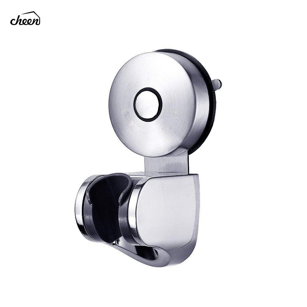 304 Stainless Steel Vacuum Suction Cup Adjustable Handheld Shower Head Bidet Sprayer Holder Wall Mount For Bathroom Accessories