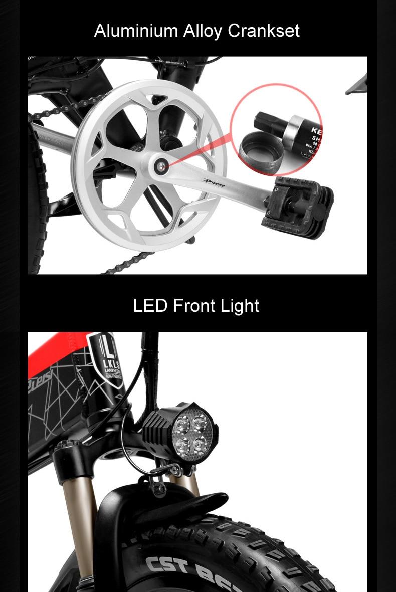 HTB1elIvaijrK1RjSsplq6xHmVXah - G650 20 Inch Folding Electrical Bike 400W Motor 10.4Ah/14.5Ah Li-ion Battery 5 Degree Pedal Help Full Suspension Mountain Bike
