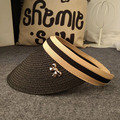 Hot Summer 2017 Nueva Moda Bowknot Visera Del Sombrero de Las Mujeres gran Sombrero de Ala Ancha Señoras Sombreros de Paja Plegable Sun Cap Envío gratis