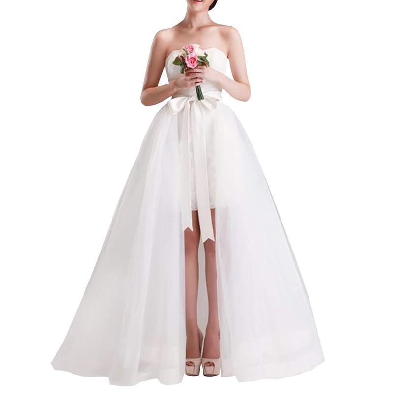 3 שכבות מקסי ארוך טול חצאית נשים להסרה רכבת Overskirt כיסוי ארוך כלה חתונה חצאית לבן שחור טוטו חצאיות Saia