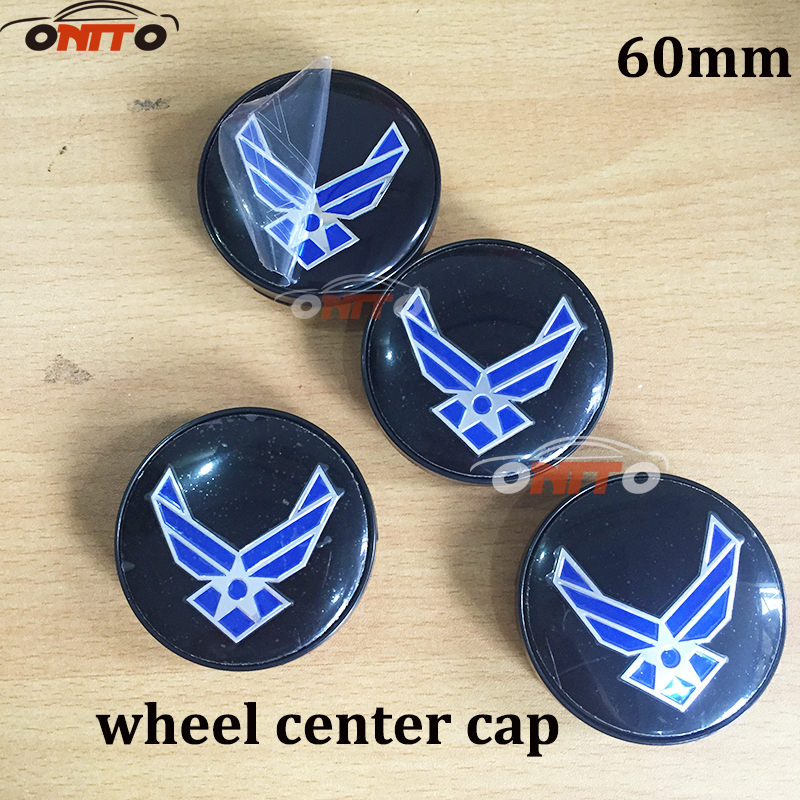 100PCS 56mm ABS Car Emblem Wheel hub Caps Car Stickers Navy blue LOGO Modified 60MM Auto wheel center covers