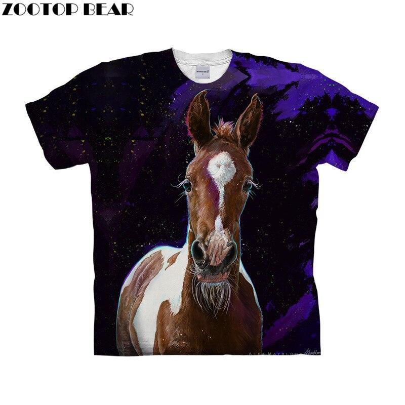 Galaxy tshirt 3d t shirt Mens t-shirt Animal Top Tee Short Sleeve Tee Homme Camiseta Prints Round Neck Tee Drop Ship ZOOTOP BEAR