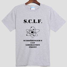 Physics 2016 Leisure summer New Brand Summer Schrodinger's Cat T Shirts Cotton O-neck Short Sleeve Tshirts Fashion 002